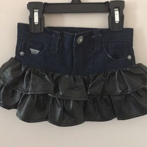 Guess girls leather and jean skirt 2T